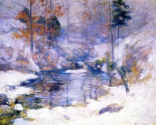 John Henry Twachtman. Winter harmony