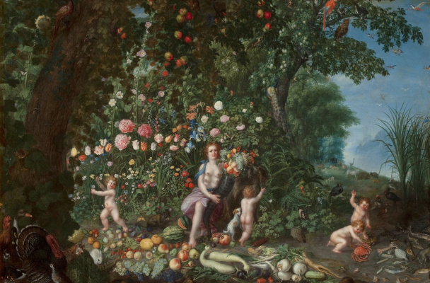 Jan Brueghel the Younger. Allegory of abundance