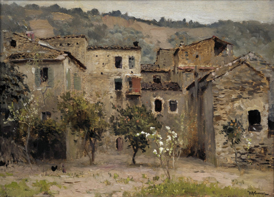 Isaac Levitan. Near Bordighera. In the North of Italy