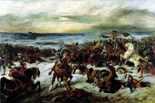 Эжен Делакруа. Гибель Карла Смелого в битве при Нанси 5 января 1477 года