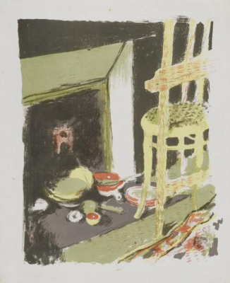 "Jean Edouard Vuillard. ""Landscapes and interiors"". Fireplace"