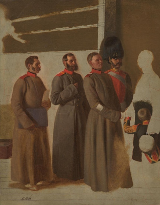 Pavel Andreevich Fedotov. Group of soldiers