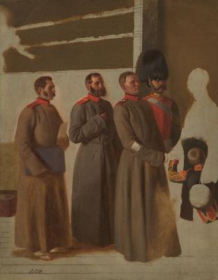 Павел Андреевич Федотов. Группа солдат