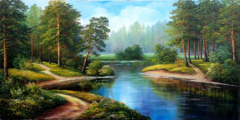 Cvetlan Vasilyevna Prilutskaya. Forest River