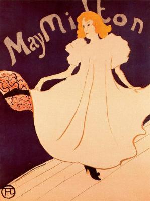 Henri de Toulouse-Lautrec. May Milton (poster)