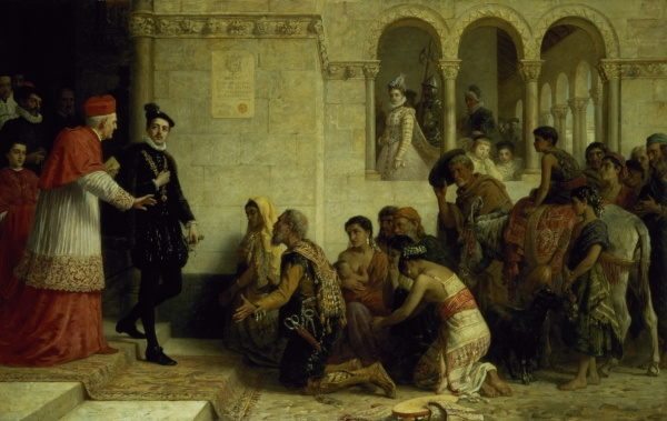 Edwin Longsden Long. The expulsion of the Gypsies from Spain