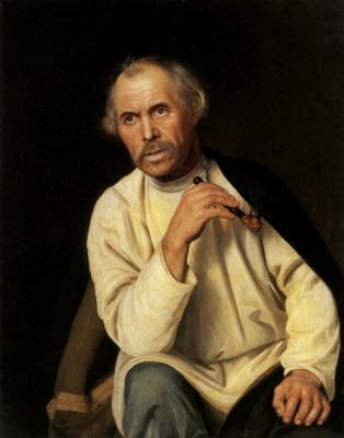 Сократ Иванович Кожевников. Старик с трубкой