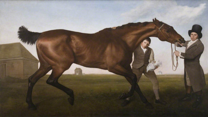 George Stubbs. A horse named Hambleton