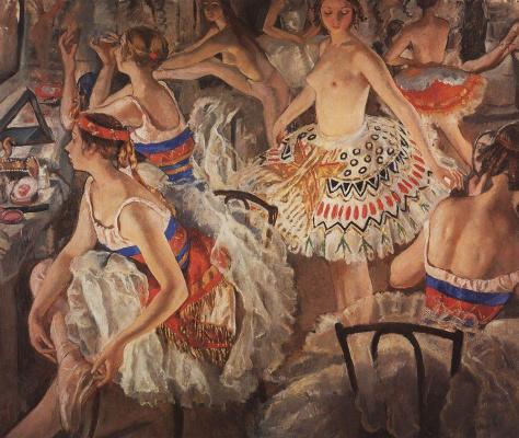Zinaida Serebryakova. Ballet dressing room (Large ballerina)