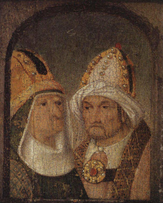 Hieronymus Bosch. Two male heads
