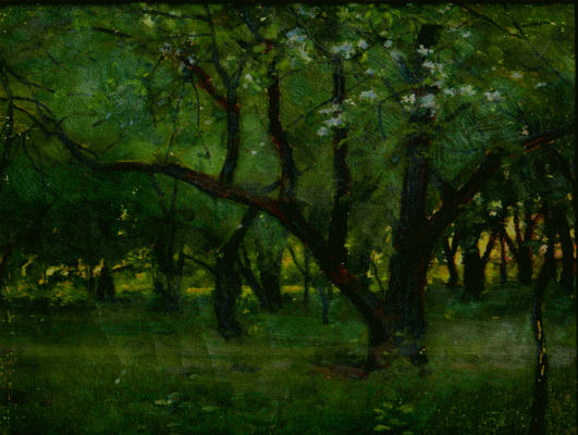 Евгений Иосифович Буковецкий. In the shade of trees