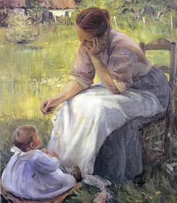Элизабет Норс. Мать с дочкой
