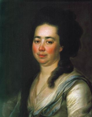 Дмитрий Григорьевич Левицкий. Портрет Екатерины Андреевны Бакуниной. 1782