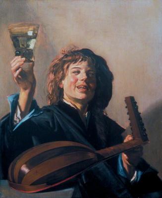 Веселый музыкант с лютней