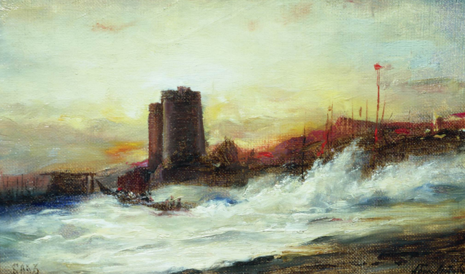 Alexey Petrovich Bogolyubov. Maiden's Tower. Etude.