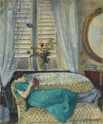 Анри Лебаск. Женщина читает