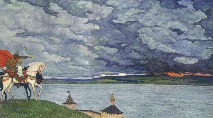 Ilya Sergeevich Glazunov. Two princes. 1994