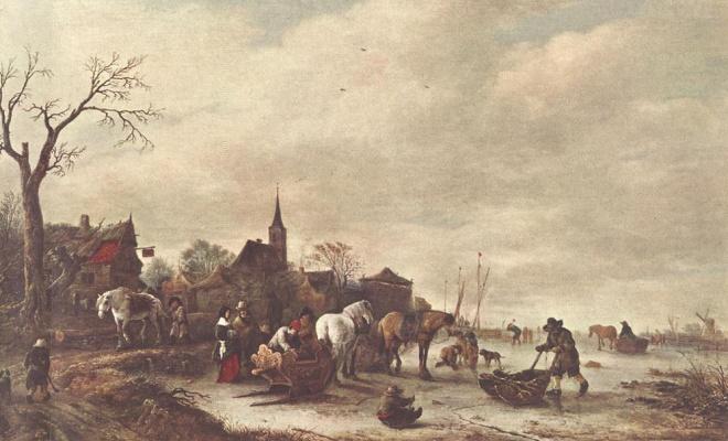 Исаак Янс ван Остад. Зимний пейзаж