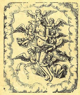 Карл Густав Берлинг. Ангелы, возносящие на небо святую Марию Магдалину