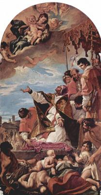 Себастьяно Риччи. Ходатайство папы Григория Великого перед Девой Марией