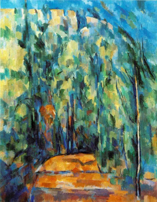 Поль Сезанн. Изгиб лесной дороги