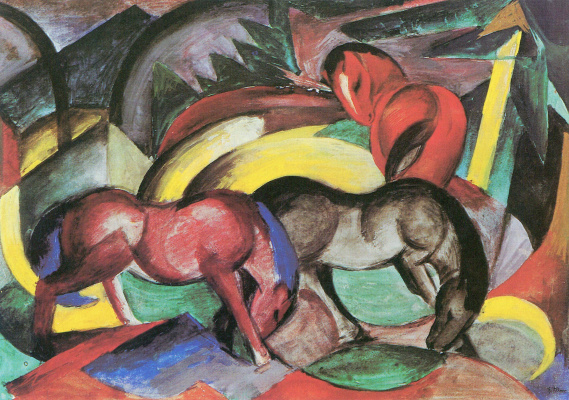 Franz Marc. Three horses