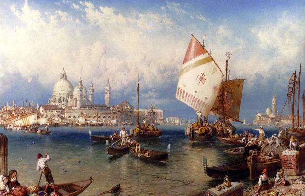 Майлз Беркет Фостер. Рыночный день на Джудекка Венеция