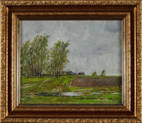 Alexander Mikhailovich Gerasimov. Rainy spring.
