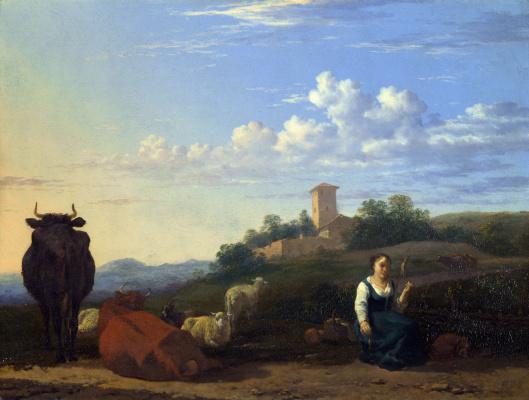 Карел Дюжарден. Женщина и рогатый скот