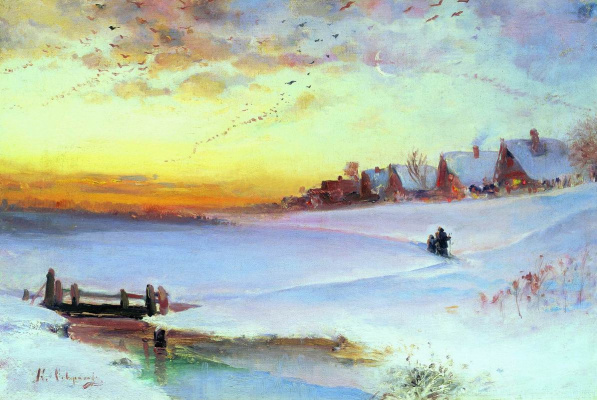 Alexey The Kondratyevich Savrasov. Winter landscape. Thaw