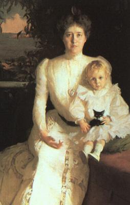 Фрэнк Уэстон Бенсон. Мать с девочкой