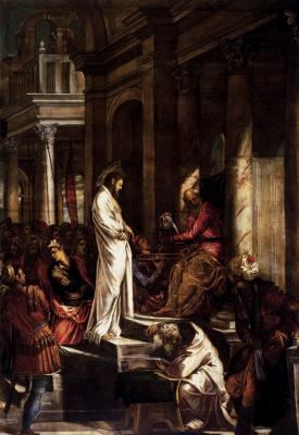 Якопо Тинторетто. Христос перед Пилатом
