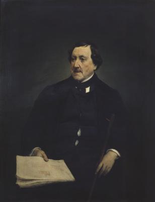 Francesco Ayets. Portrait of Gioacchino Rossini