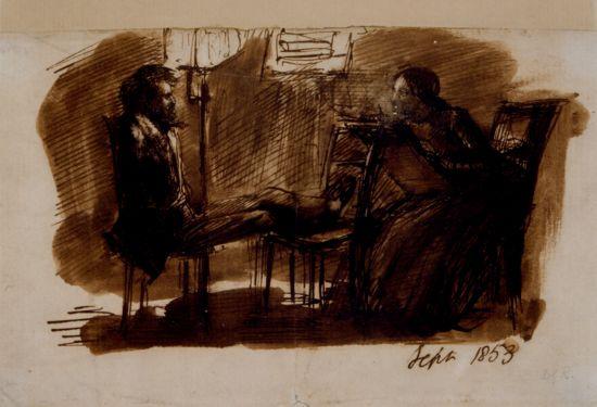Dante Gabriel Rossetti. Dante Gabriel Rossetti poses for Elizabeth Siddal