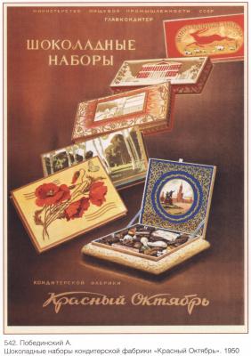 Плакаты СССР. Шоколадные наборы