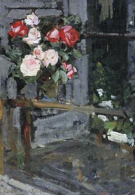 Konstantin Korovin. Roses. The evening