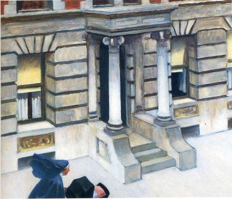 Edward Hopper. Sidewalks Of New York