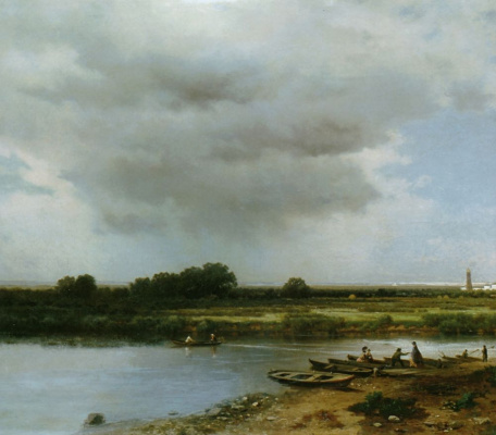 Lev Lvovich Kamenev. Views of the river Kazanka river