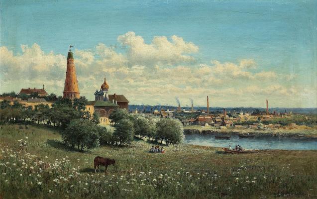Alexandra Egorovna Makovsky. View of Simonov monastery near Moscow