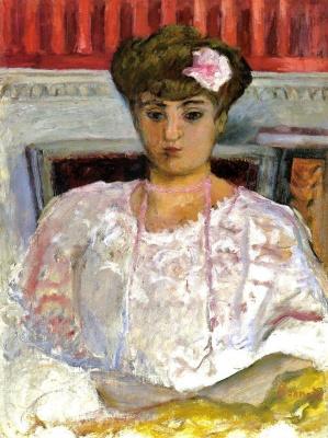 Пьер Боннар. Портрет Мизии Серт в розовой блузке