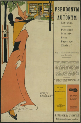 Aubrey Beardsley. Libraries of aliases and autonyms (cover)