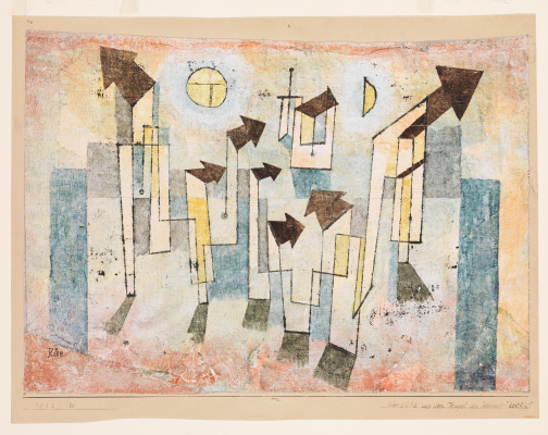 Paul Klee. Fresco from the temple