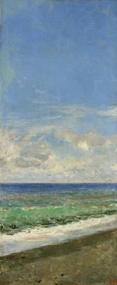 Mariano Fortuni-i-Carbo. Seascape (Etude for Portici Beach)