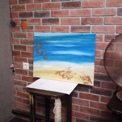 Julia Wind. Hot sea