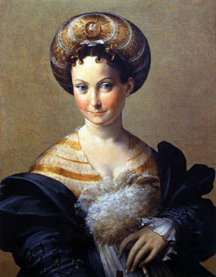 Francesco Parmigianino. Portrait of a lady in Turkish costume
