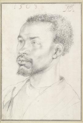 Albrecht Durer. Portrait of black men