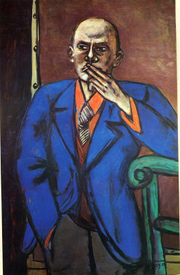 Max Beckmann. The man in the blue jacket