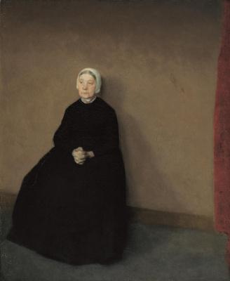 Vilhelm Hammershøi. Portrait of an elderly woman