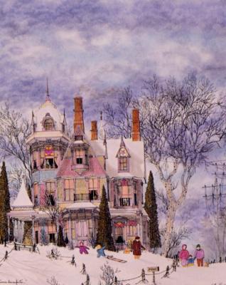 Жиль Пуассон. Дети в снегу