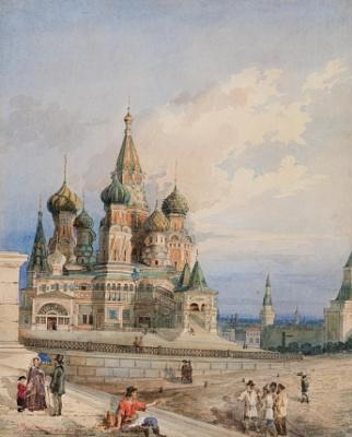Андрей Алексеевич Редковский. Вид на Покровский собор от Лобного места